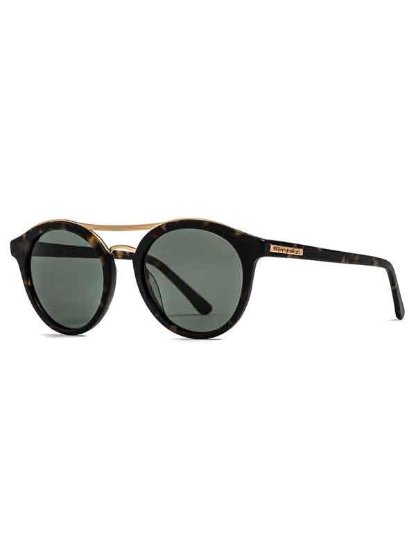 Horsefeathers NOMAD matt havana/green sluneční brýle pilotky - hnědá