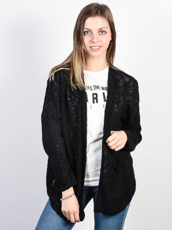 Roxy LIBERTY DISCOVER TRUE BLACK dámský svetr - černá