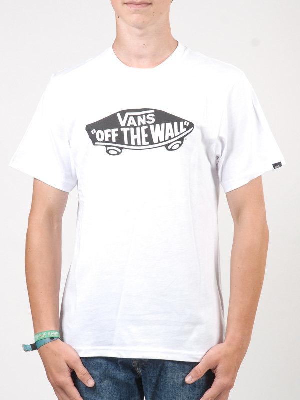 Vans OTW white/black dětské triko s krátkým rukávem - bílá