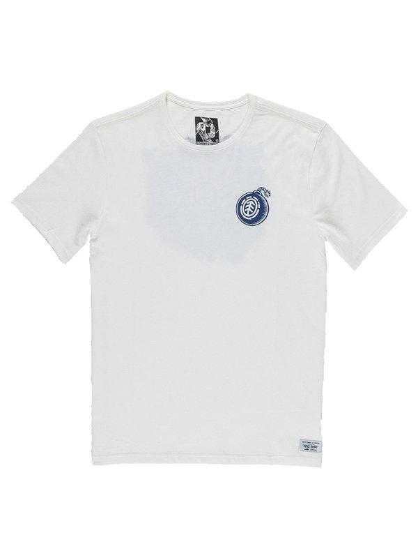 Element BLAST BONE WHITE dětské triko s krátkým rukávem - bílá