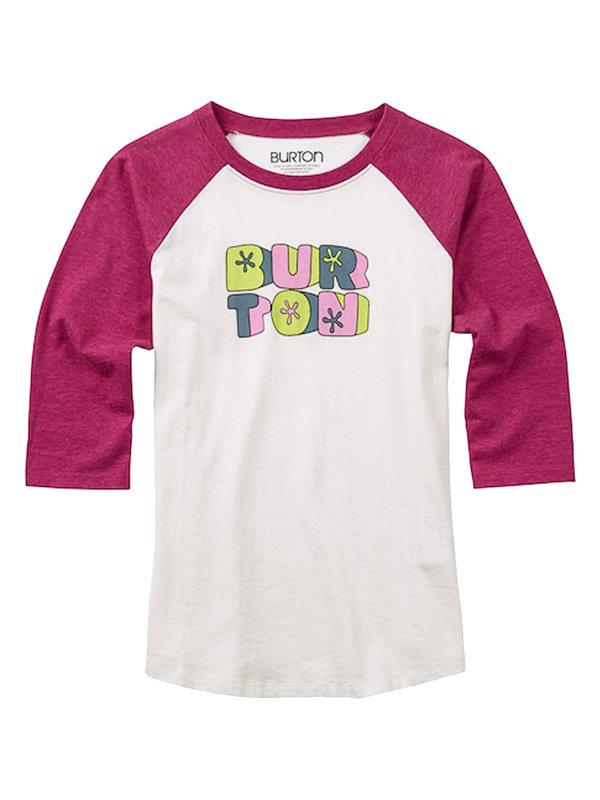 Burton HOLLIE RAGLAN STOUT WHITE dětské triko s dlouhým rukávem - bílá