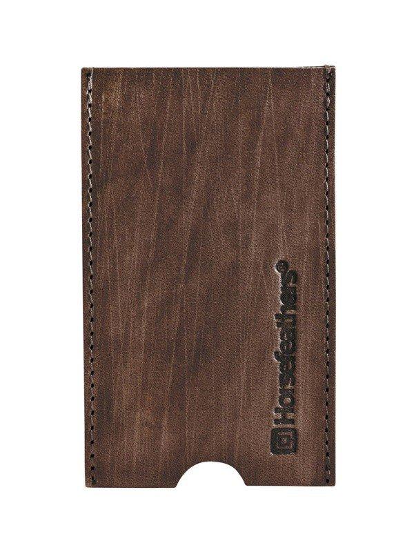Horsefeathers FLYNN brushed brown obal na mobil - hnědá