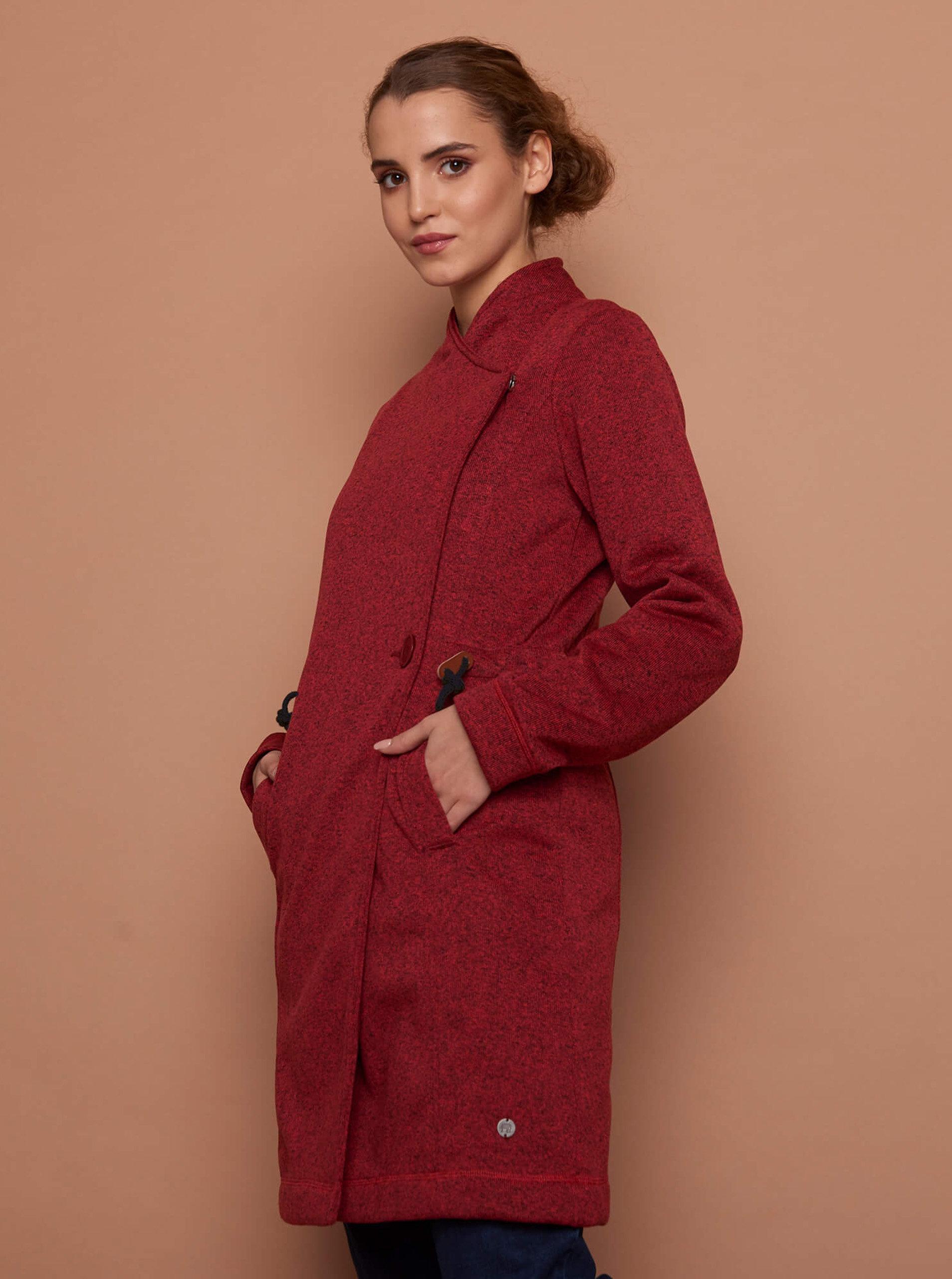 Červený dámský lehký kabát Tranquillo