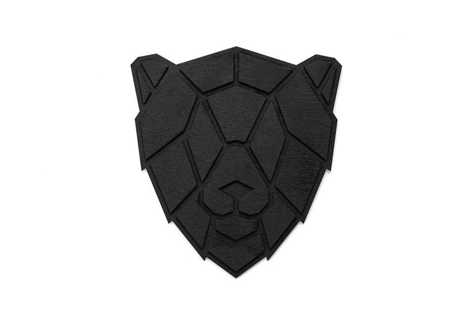 Dřevěná dekorace na zeď Lion Nox Polygon BeWooden