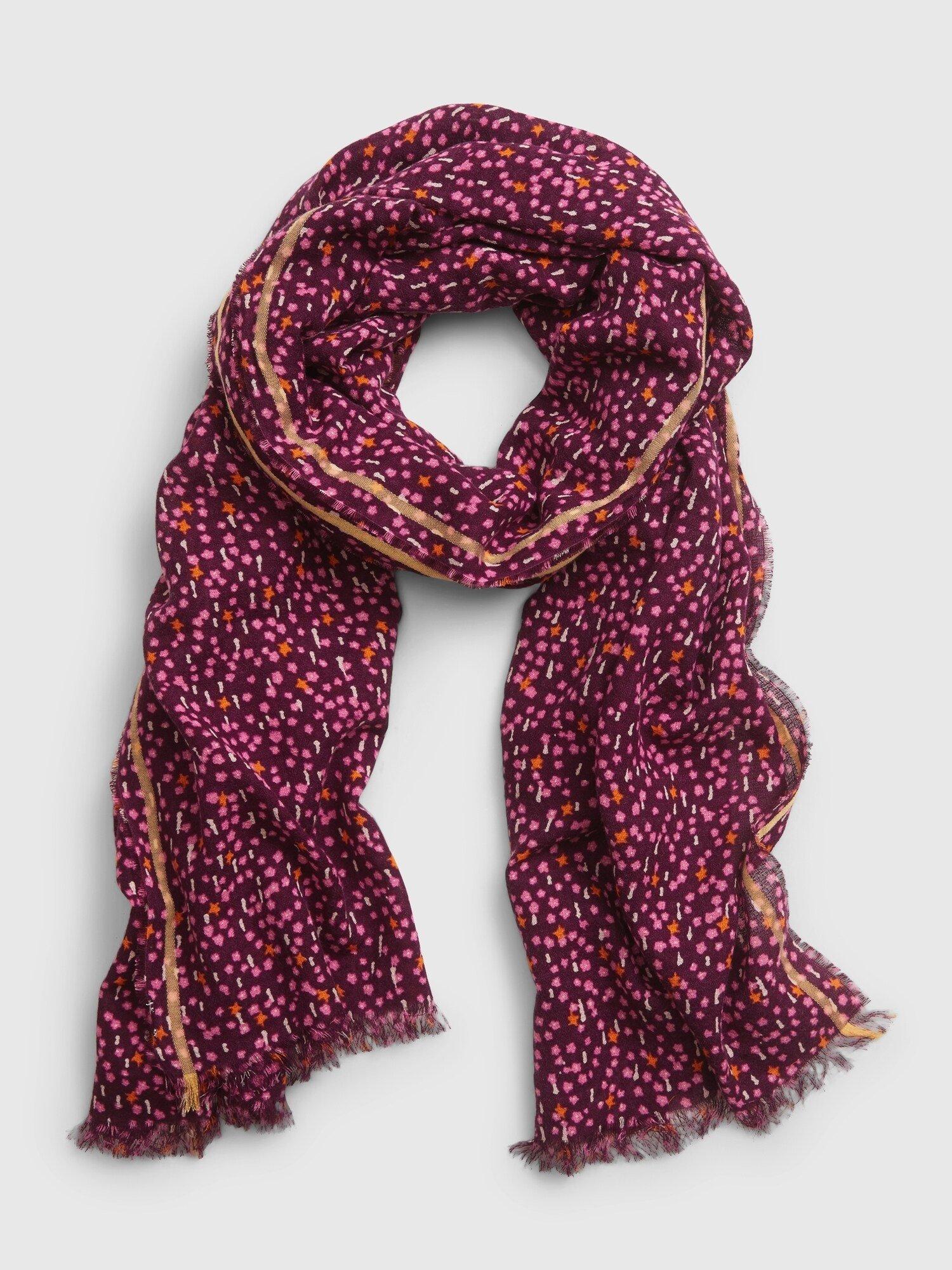 Vínový dámský šátek GAP
