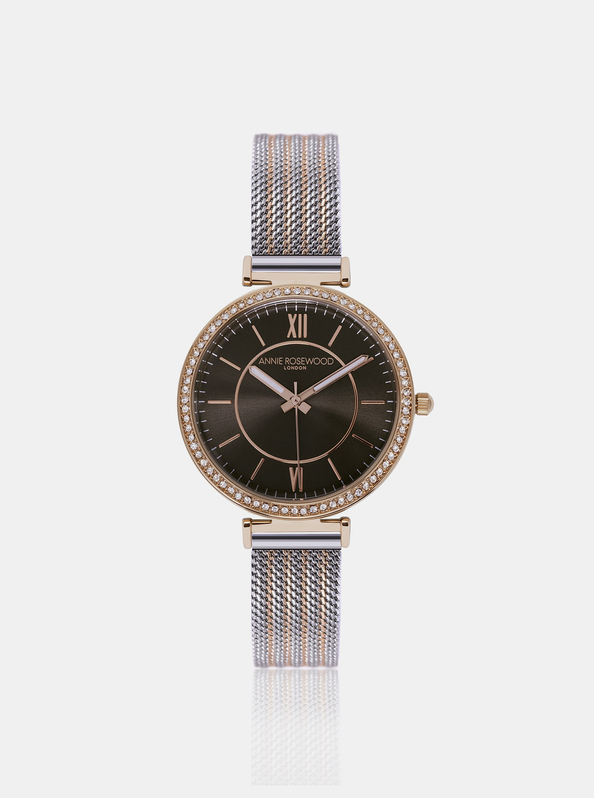 Dámské hodinky s nerezovým páskem ve zlato-stříbrné barvě Annie Rosewood