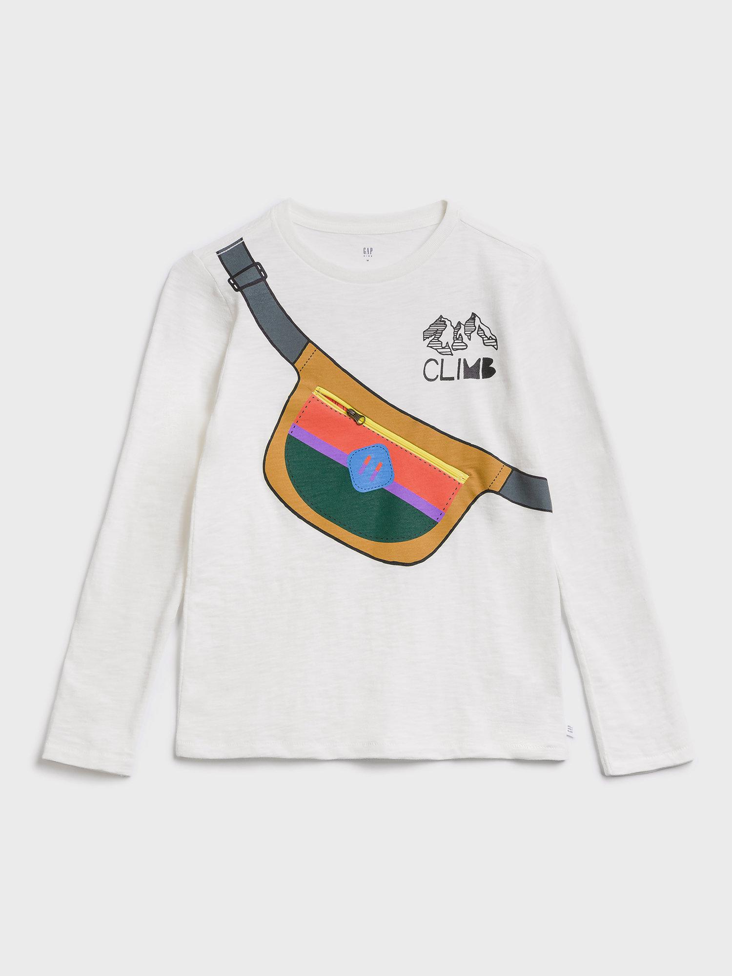 Bílé klučičí tričko GAP