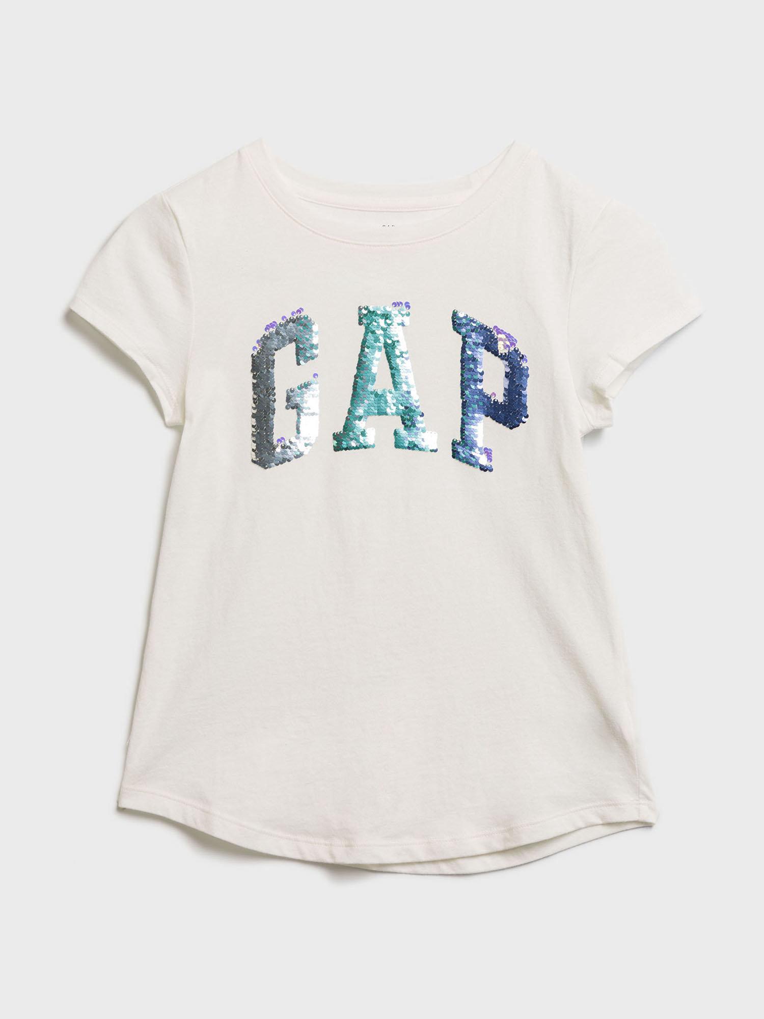 Bílé holčičí tričko GAP Logo