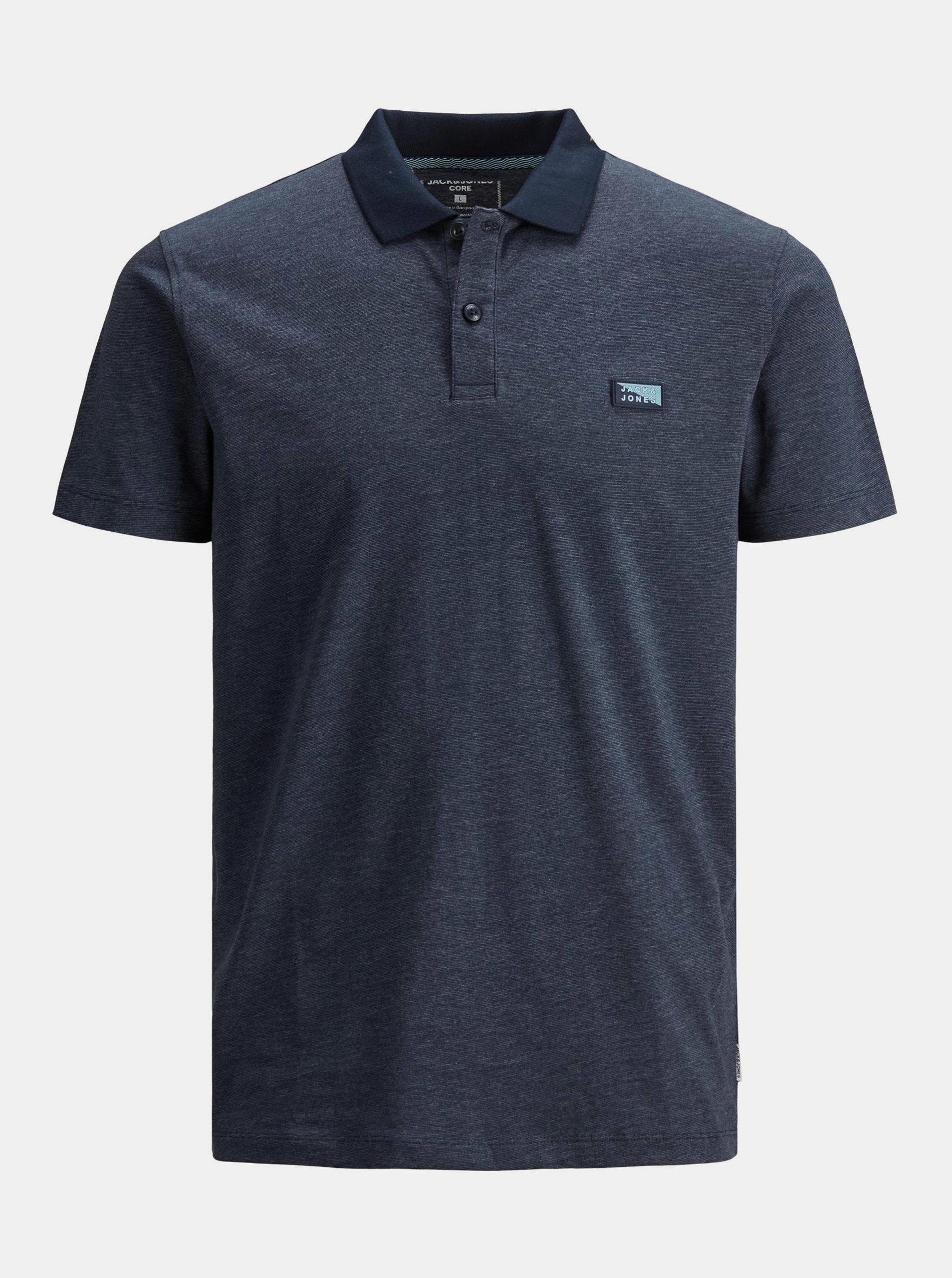 Tmavě modré polo tričko Jack & Jones Schultz