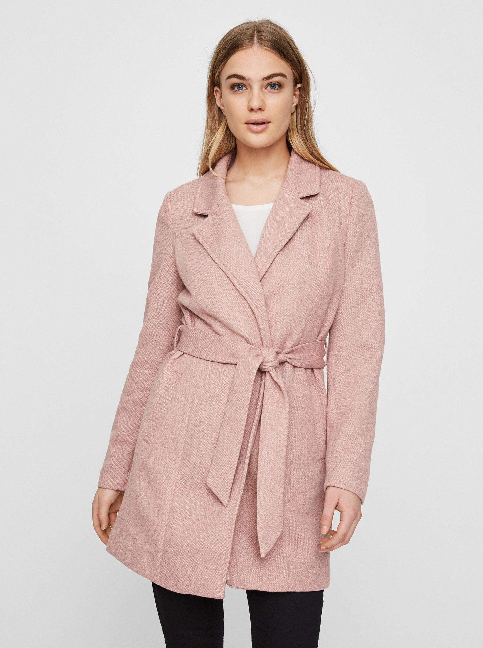 Růžový lehký kabát VERO MODA Rodona