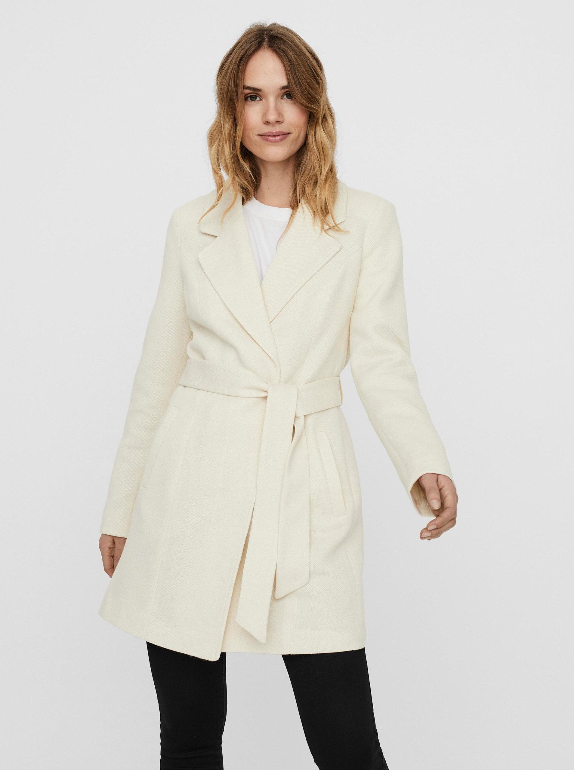 Krémový lehký kabát VERO MODA Rodona