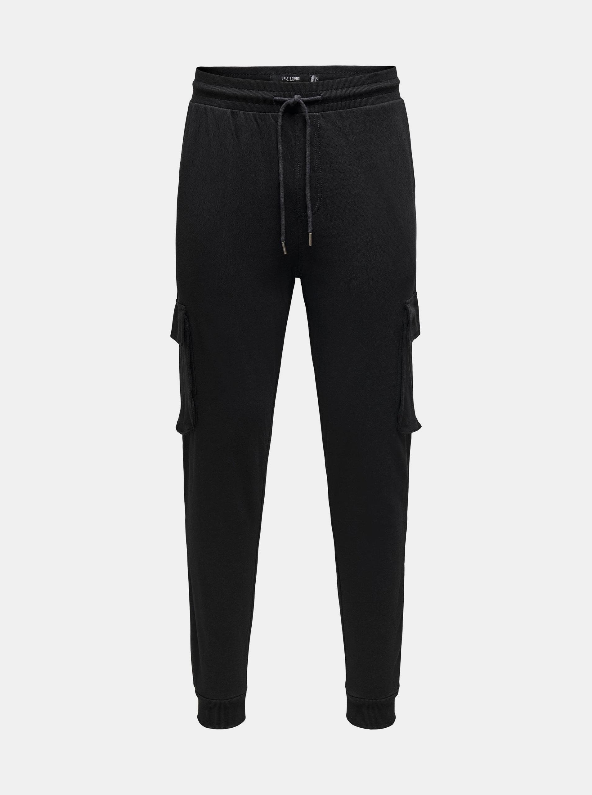 Černé kalhoty s kapsami ONLY & SONS Kian