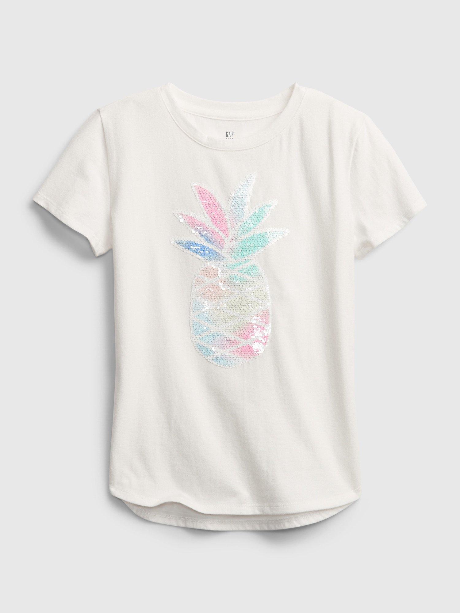 Bílé holčičí dětské tričko ss flippy gr t