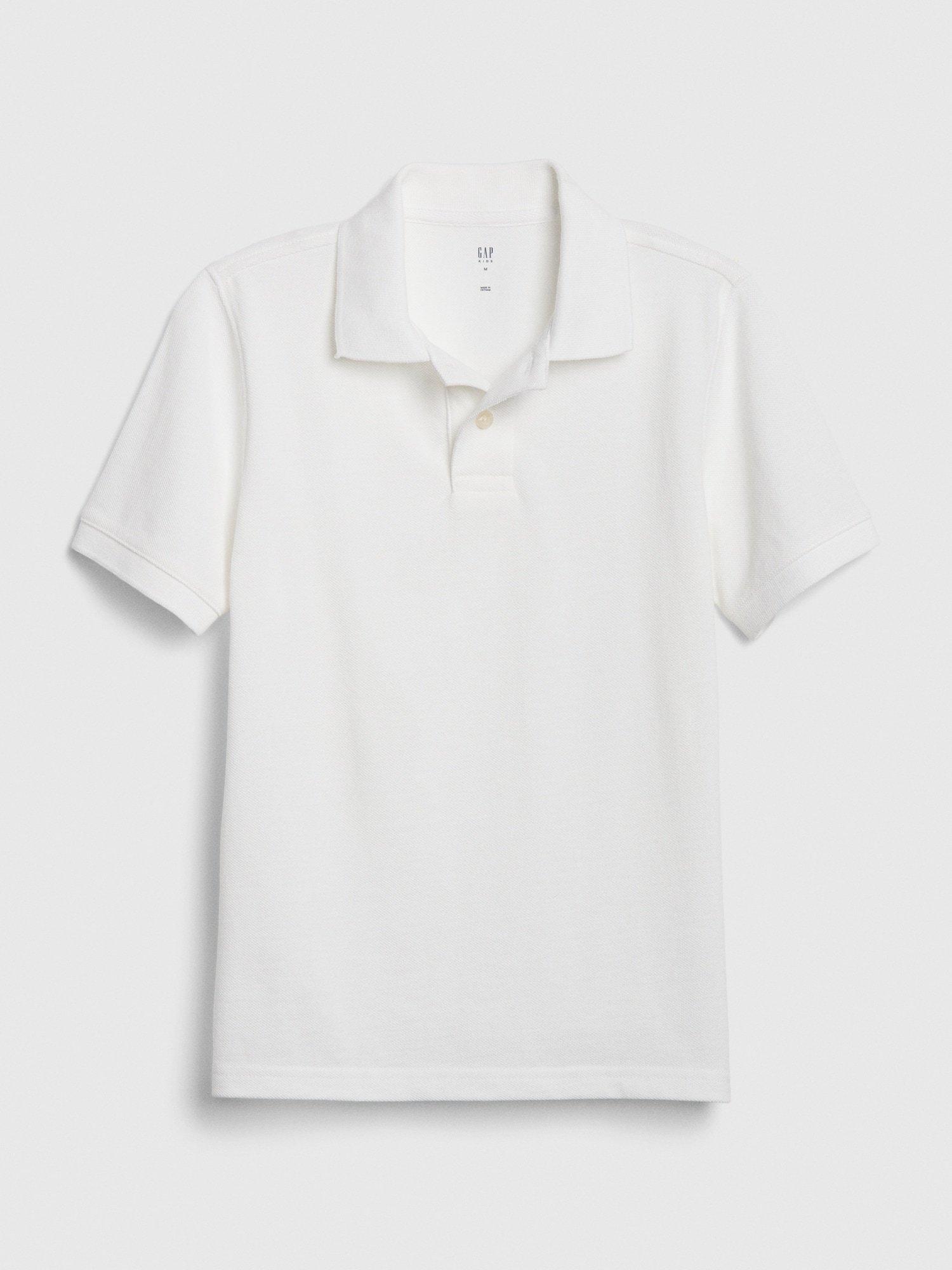 Bílé klučičí dětské polo tričko