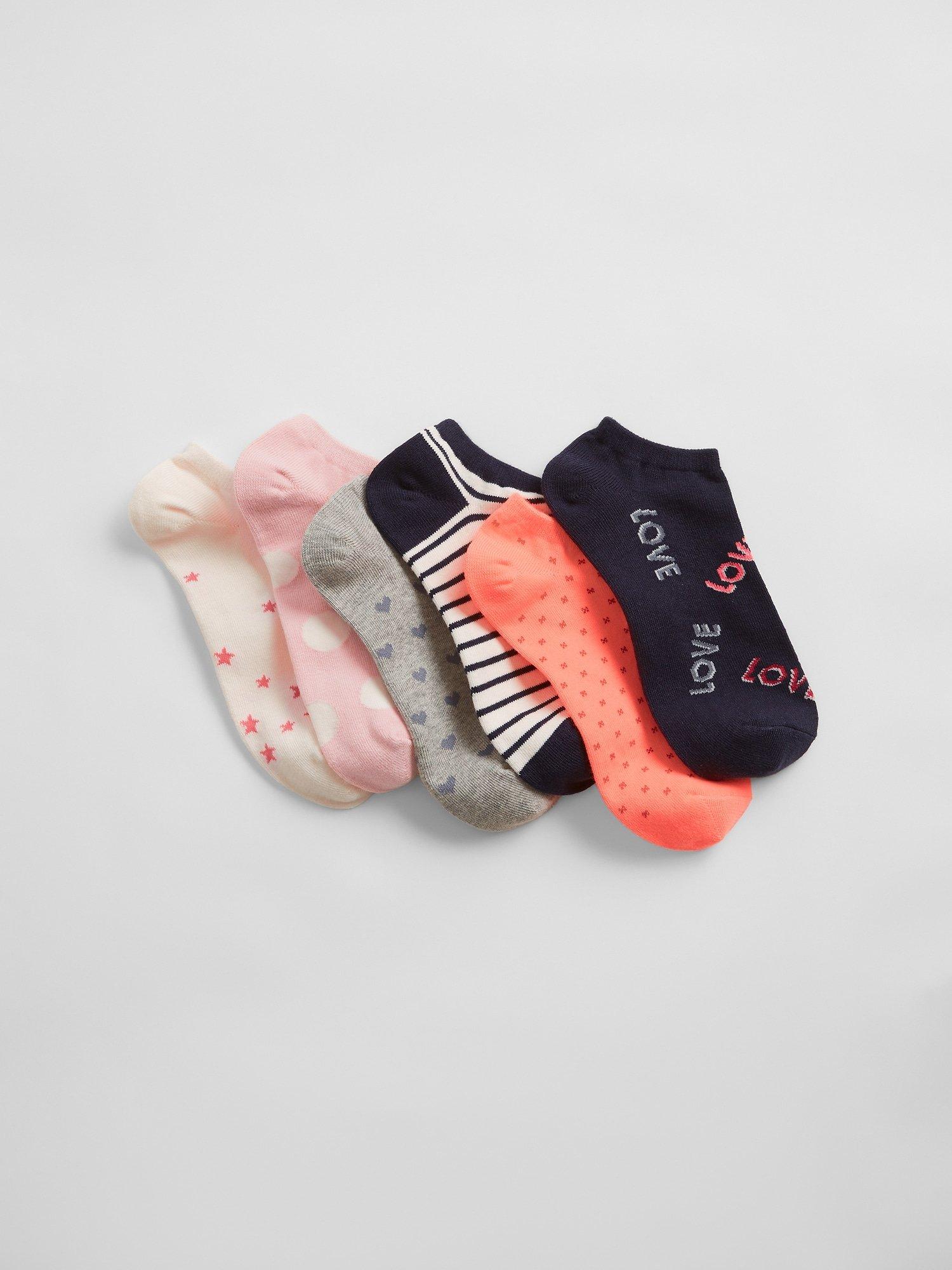 E-shop Dámské ponožky v modré a růžové barvě V-SPR fsh ankle, 6 párů