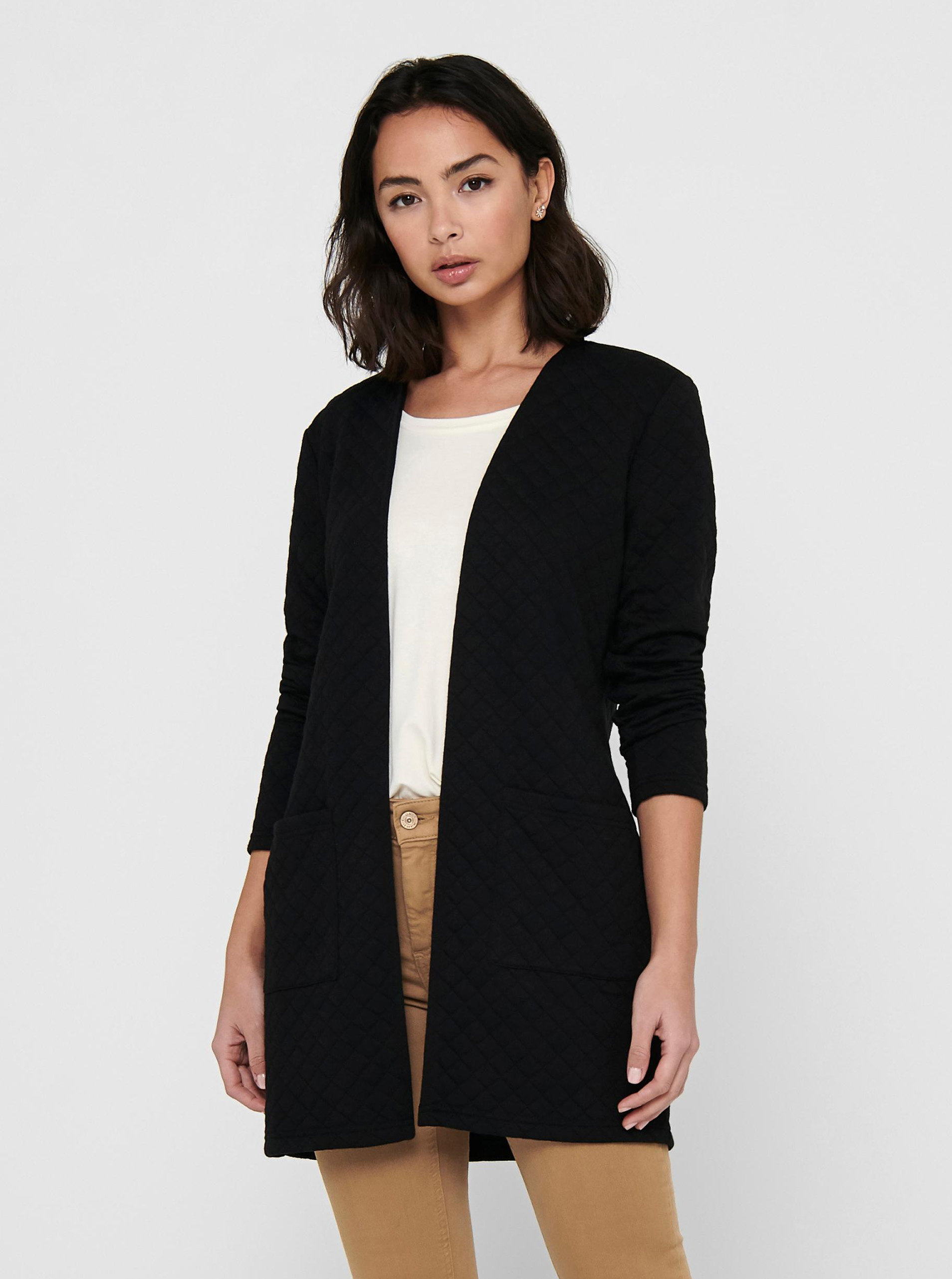 Černý lehký kabát Jacqueline de Yong Napa