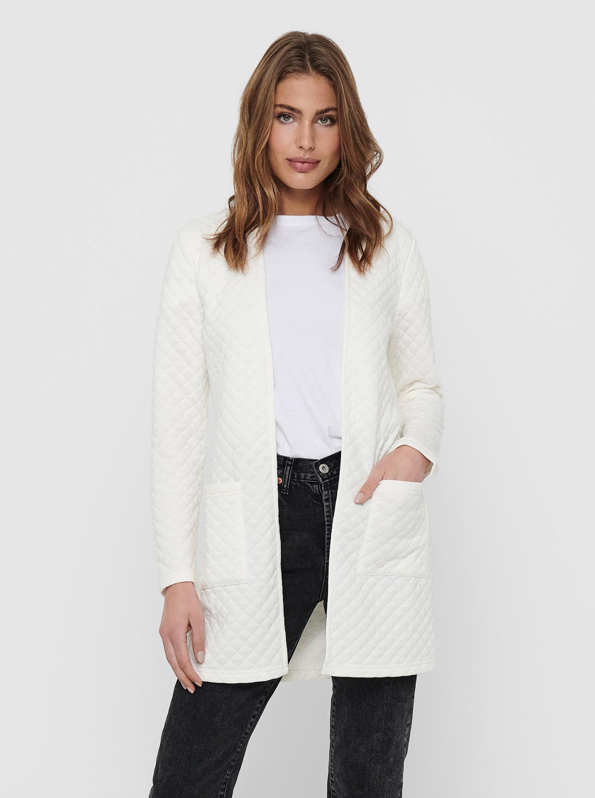 Bílý lehký kabát Jacqueline de Yong Napa