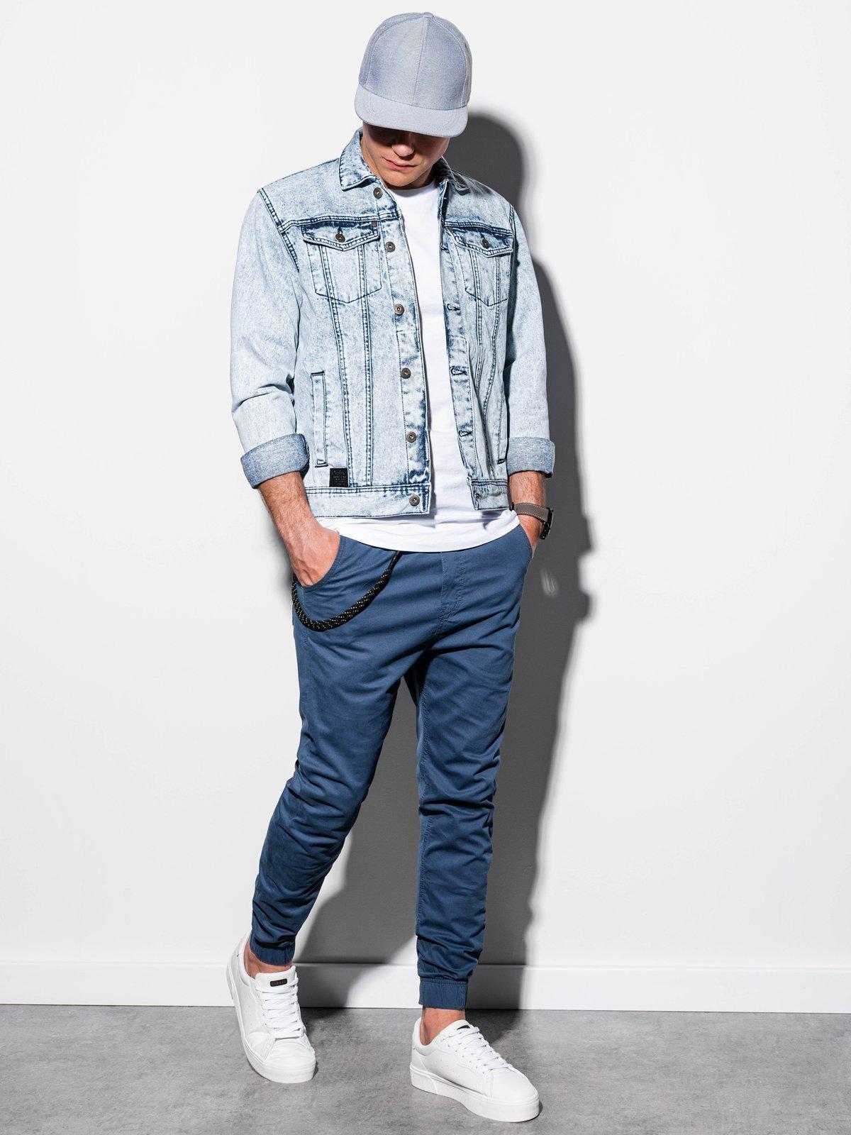 Pánská riflová bunda C441 - světle džínová