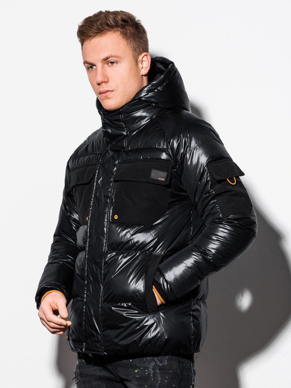 Pánská zimní bunda C457 - černá