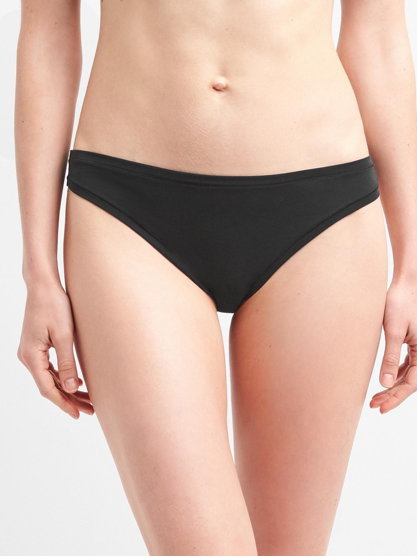 Černé dámské kalhotky tanga breathe thong