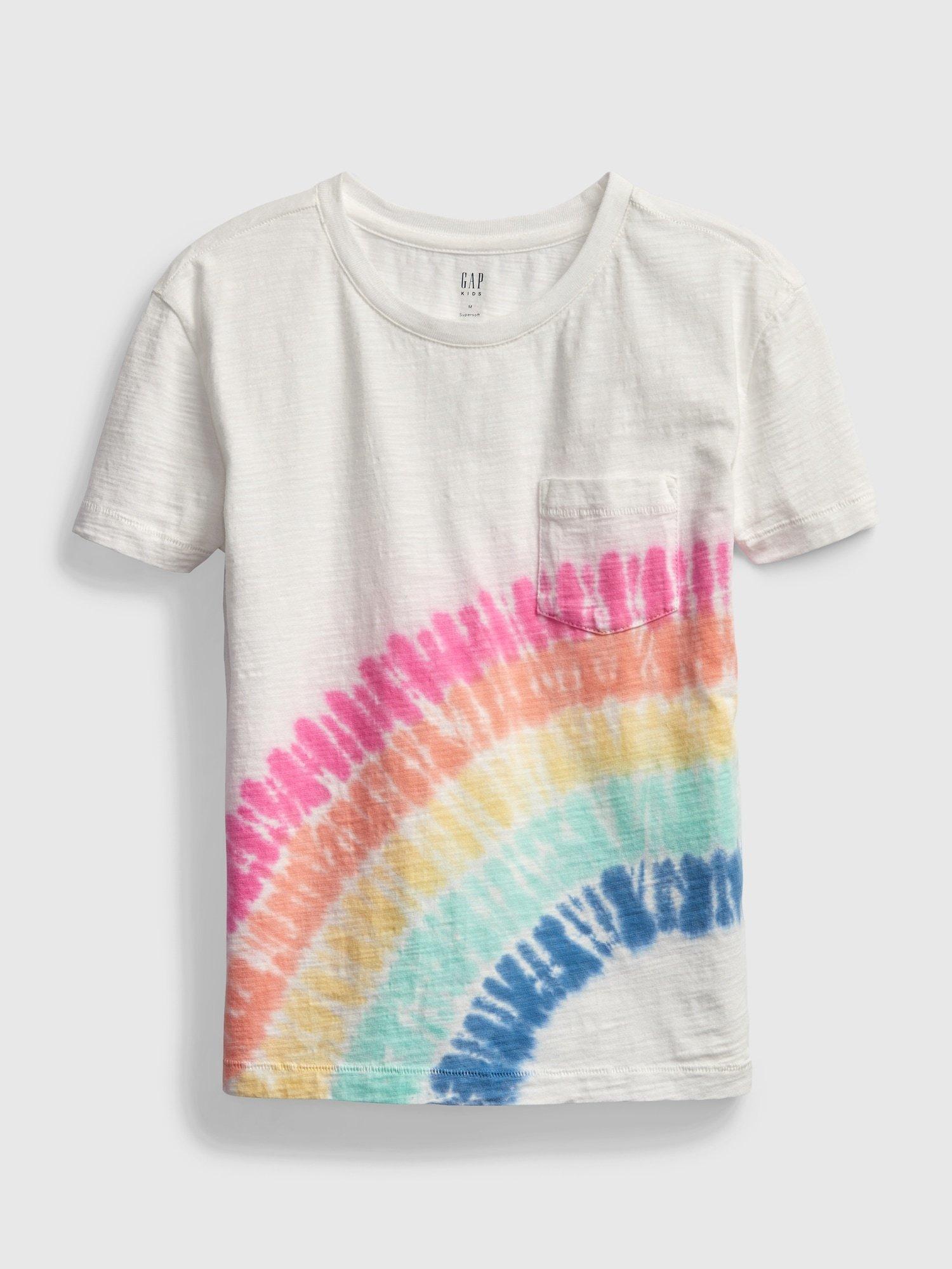 Bílé holčičí dětské tričko print pocket