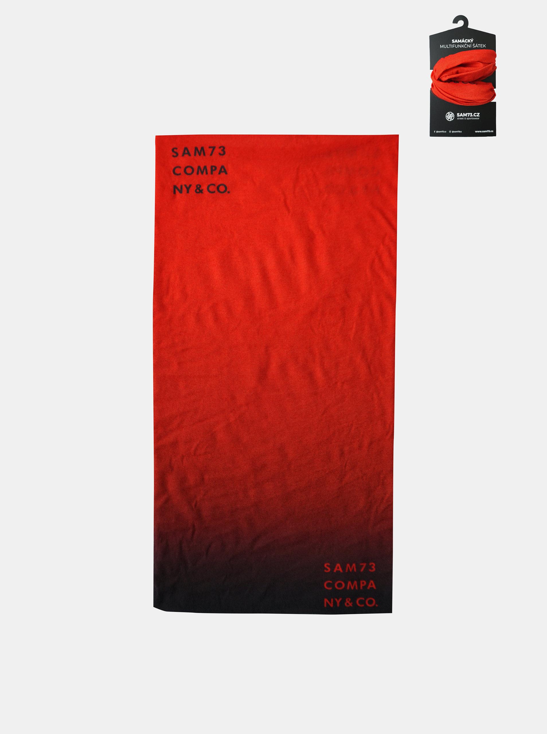 Červený multifunkční šátek SAM 73
