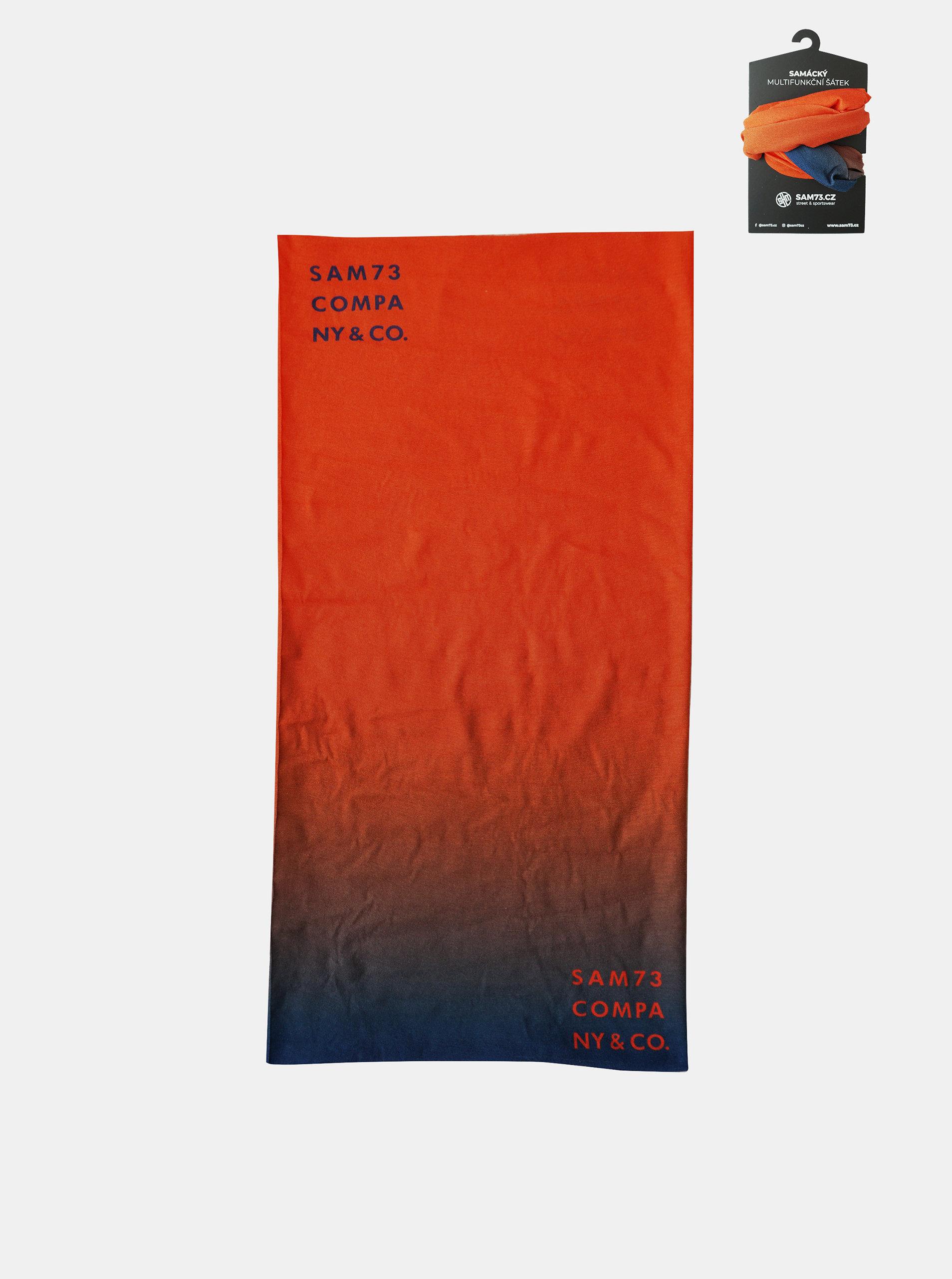 Oranžový multifunkční šátek SAM 73