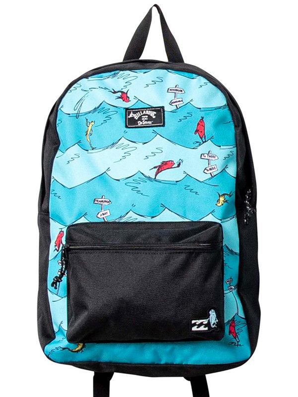 Billabong 1 FISH2 FISH ALL DAY AQUA batoh do školy - modrá