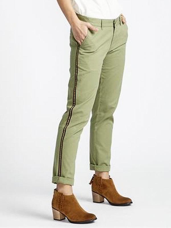 Billabong MON CHINO BOYSCOUT plátěné kalhoty dámské - zelená