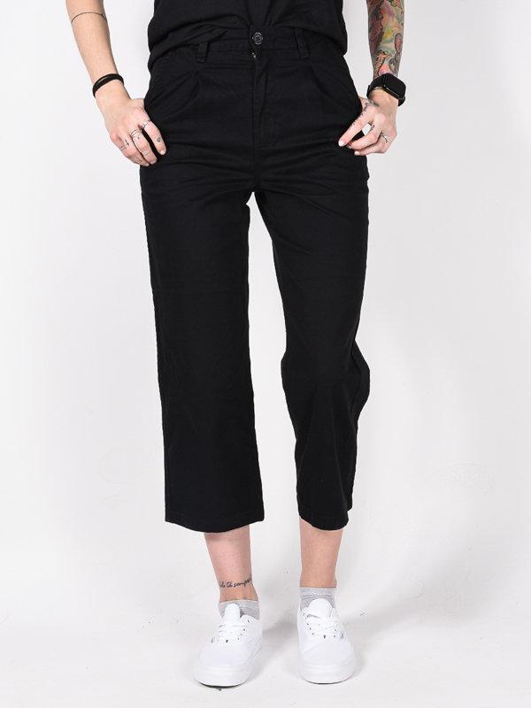 Element OLSEN FLINT BLACK plátěné kalhoty dámské - černá