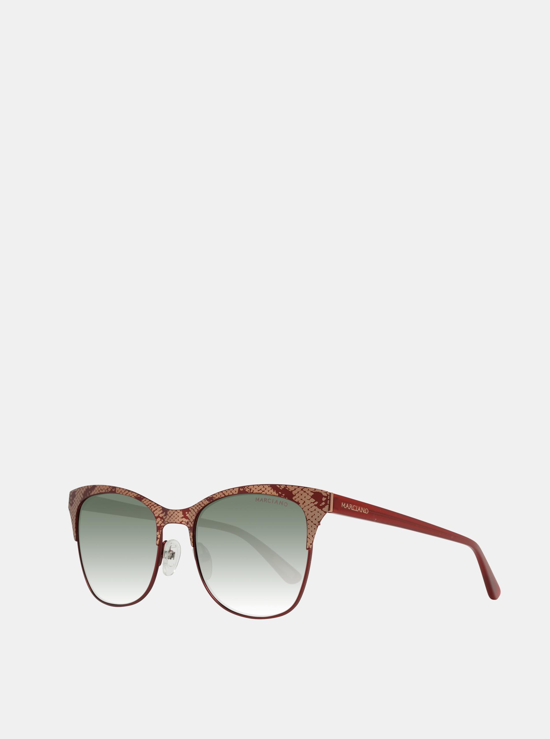 Vínové dámské vzorované sluneční brýle Guess by Marciano