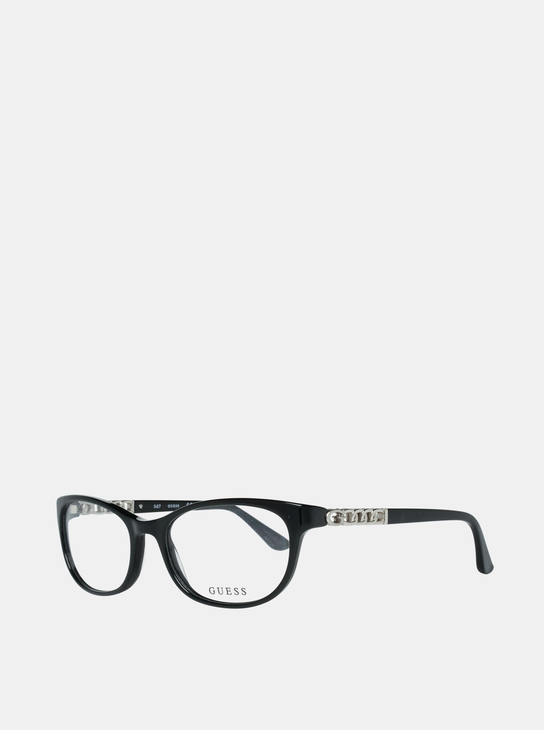Černé dámské obroučky brýlí Guess
