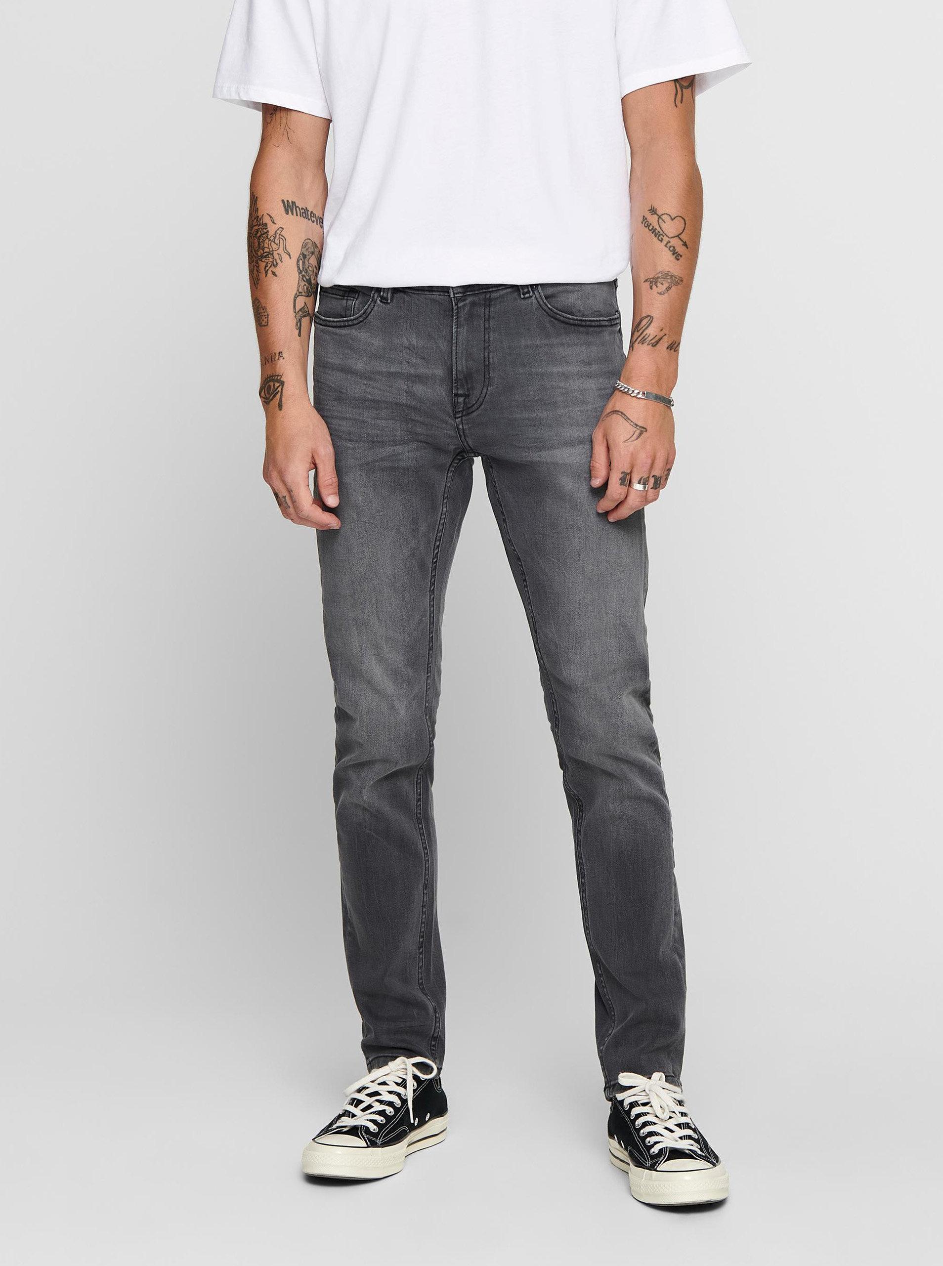 Šedé slim fit džíny ONLY & SONS Warp
