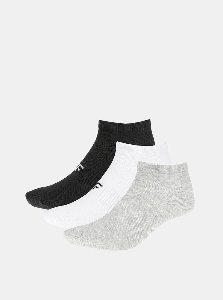 Dámské ponožky 4F SOD302 (3 páry) Šedá