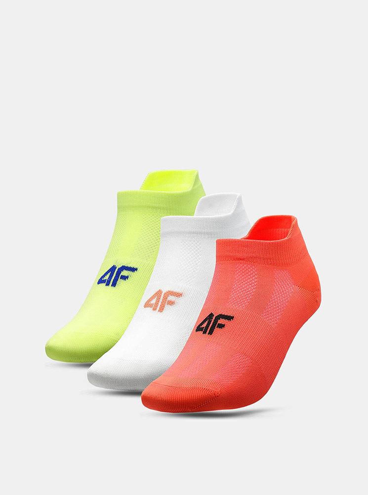 Dámské ponožky 4F SOD213 (3 páry) Žlutá