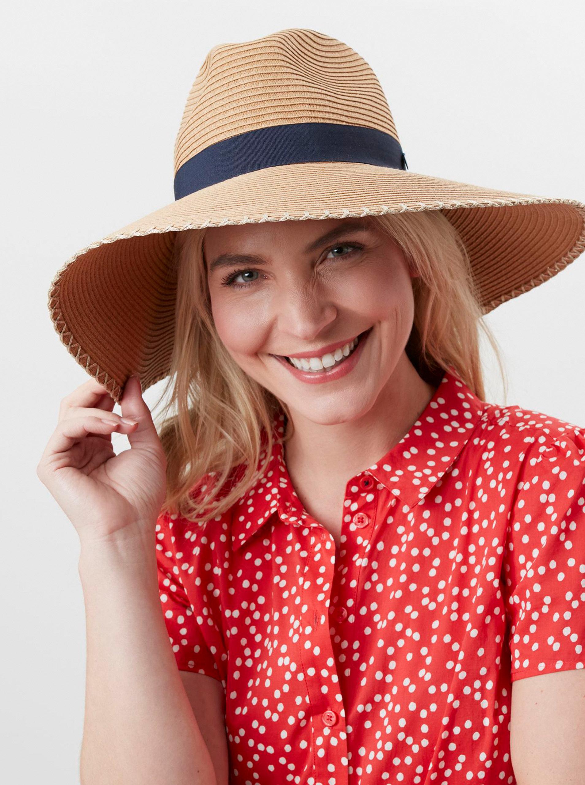 Béžový dámský slaměný klobouk Tom Joule