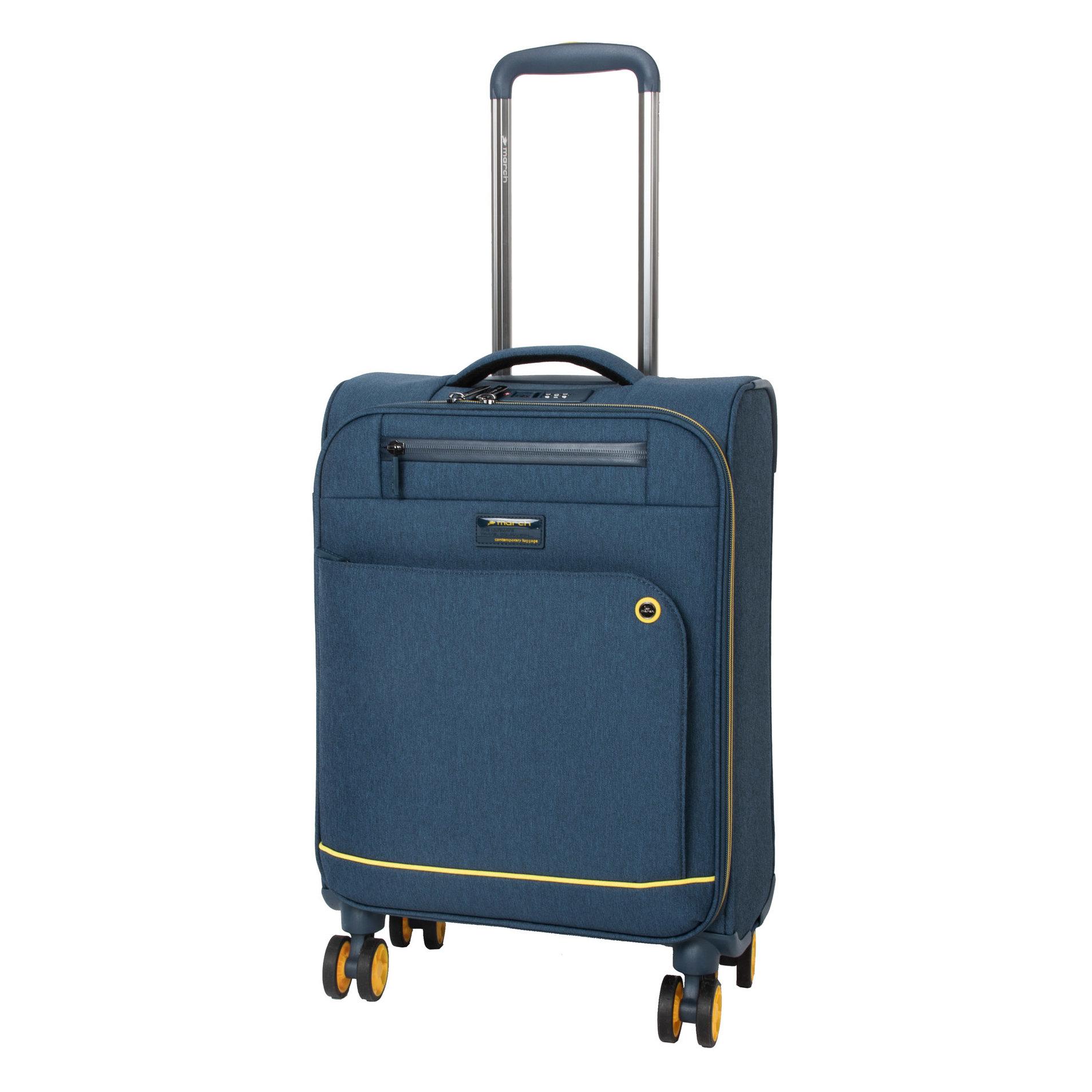 Cestovní kufr March Shorttrack S Navy/yellow