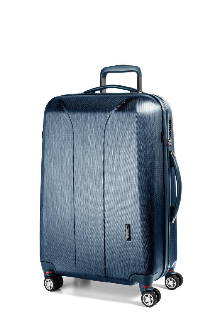 Cestovní kufr March New Carat SE L Navy brushed