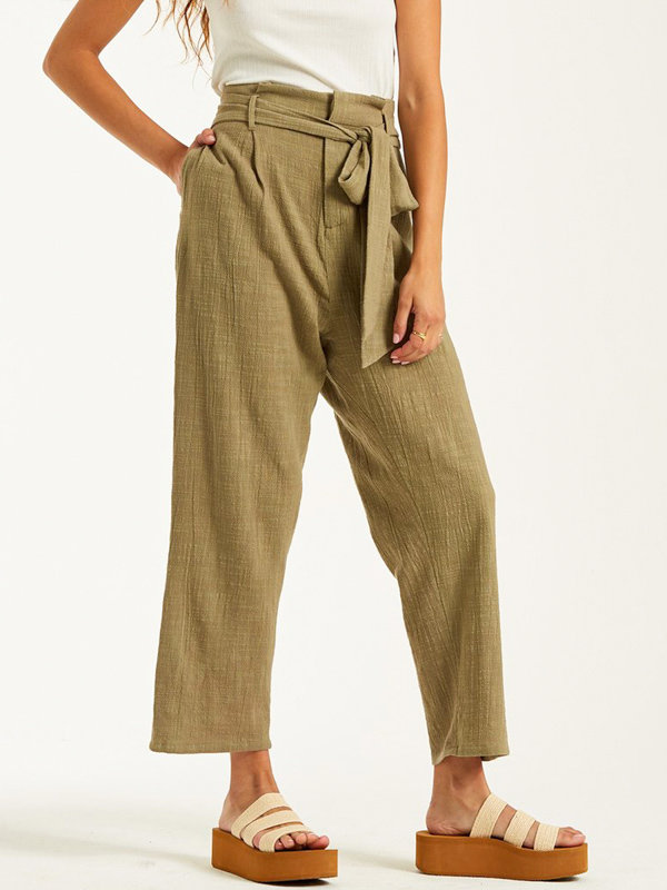 Billabong SAND STAND BAYLEAF plátěné kalhoty dámské - hnědá
