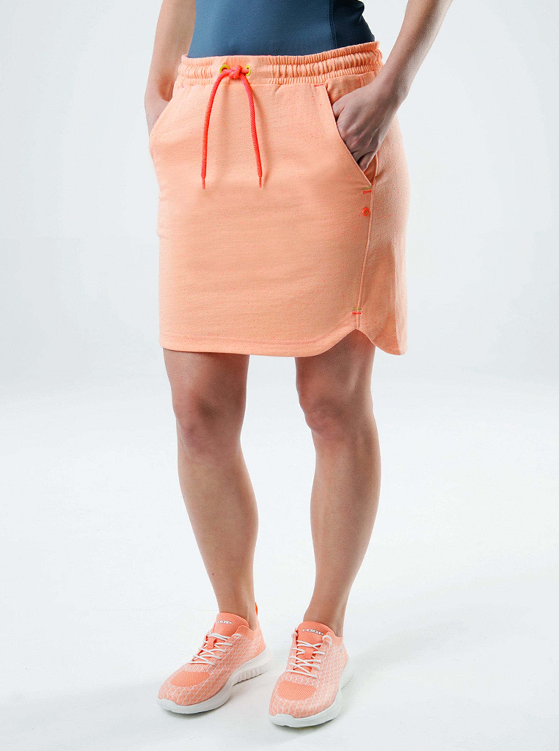 Oranžová dámská sukně s kapsami LOAP