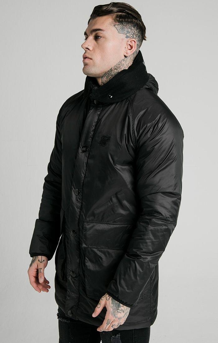 Černá pánská zimní bunda - PARKA PUFF NAVIGATE