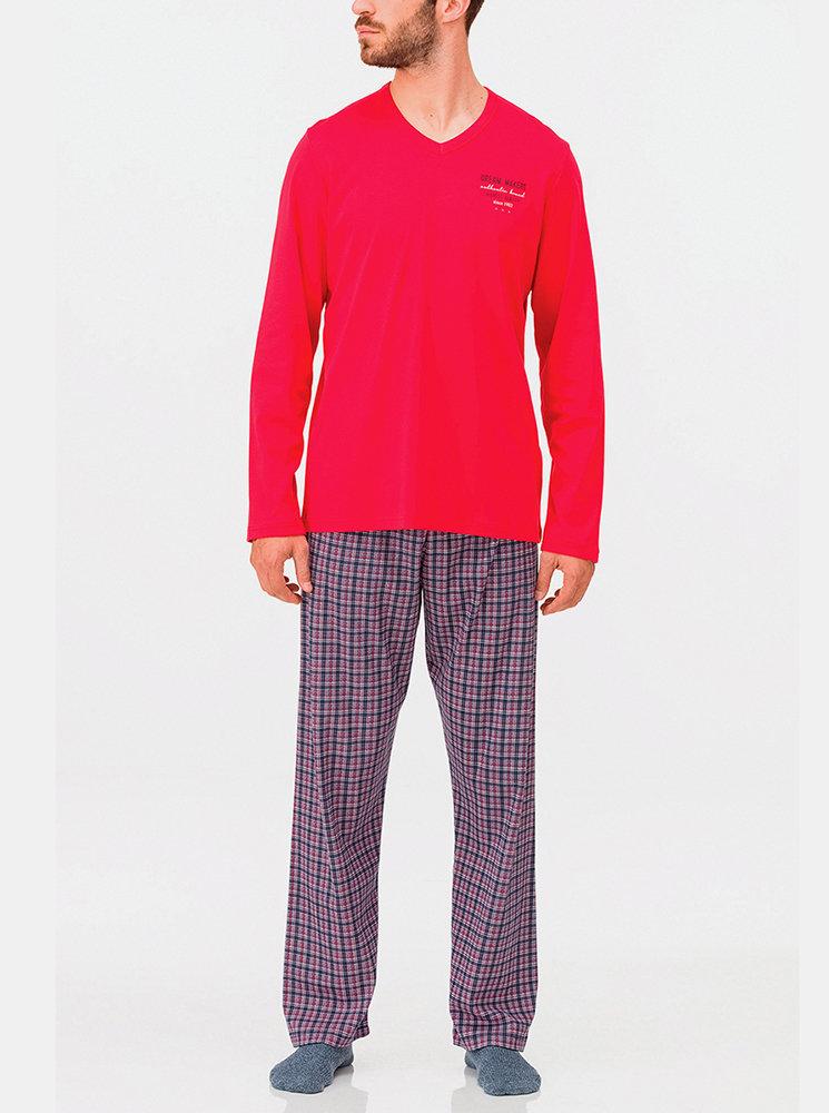 Pánské pyžamo 11698-149 red - Vamp červená