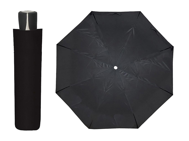Doppler Mini Fiber černý skládací deštník - Černá