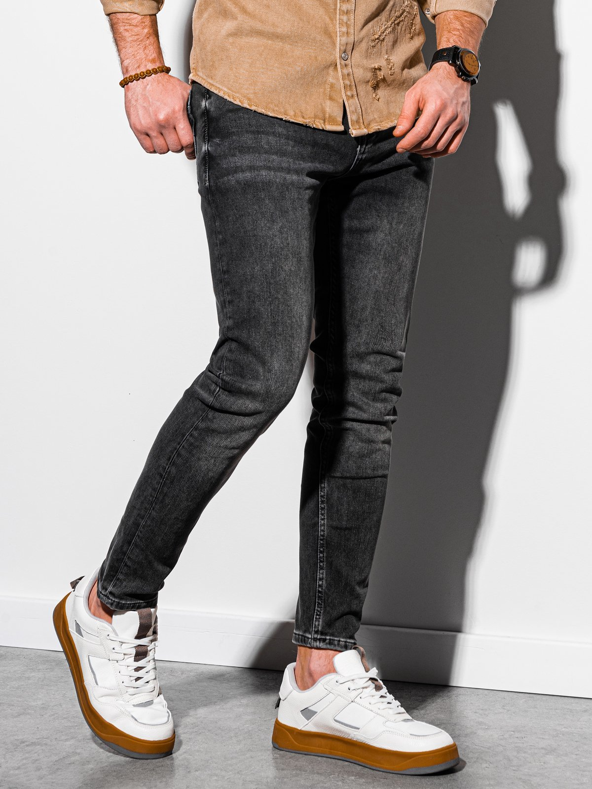 Pánské riflové kalhoty P1007 - šedá
