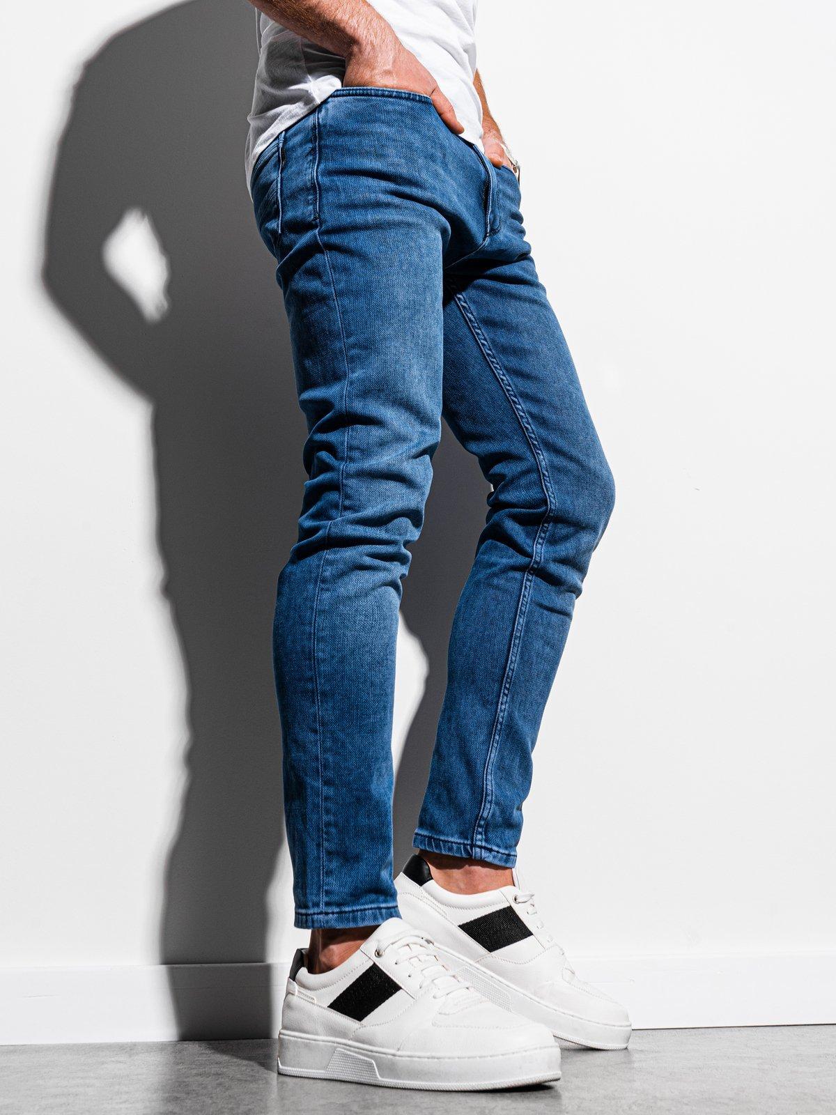 Pánské riflové kalhoty P1007 - modra