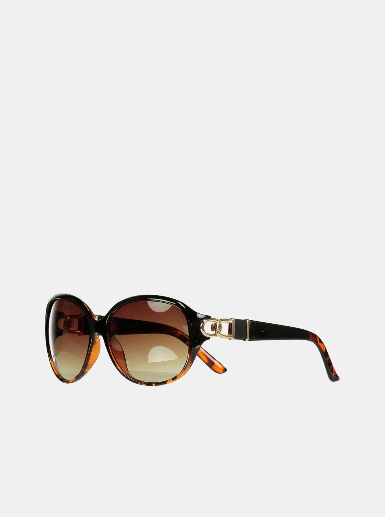 Hnědé dámské vzorované sluneční brýle Hailys