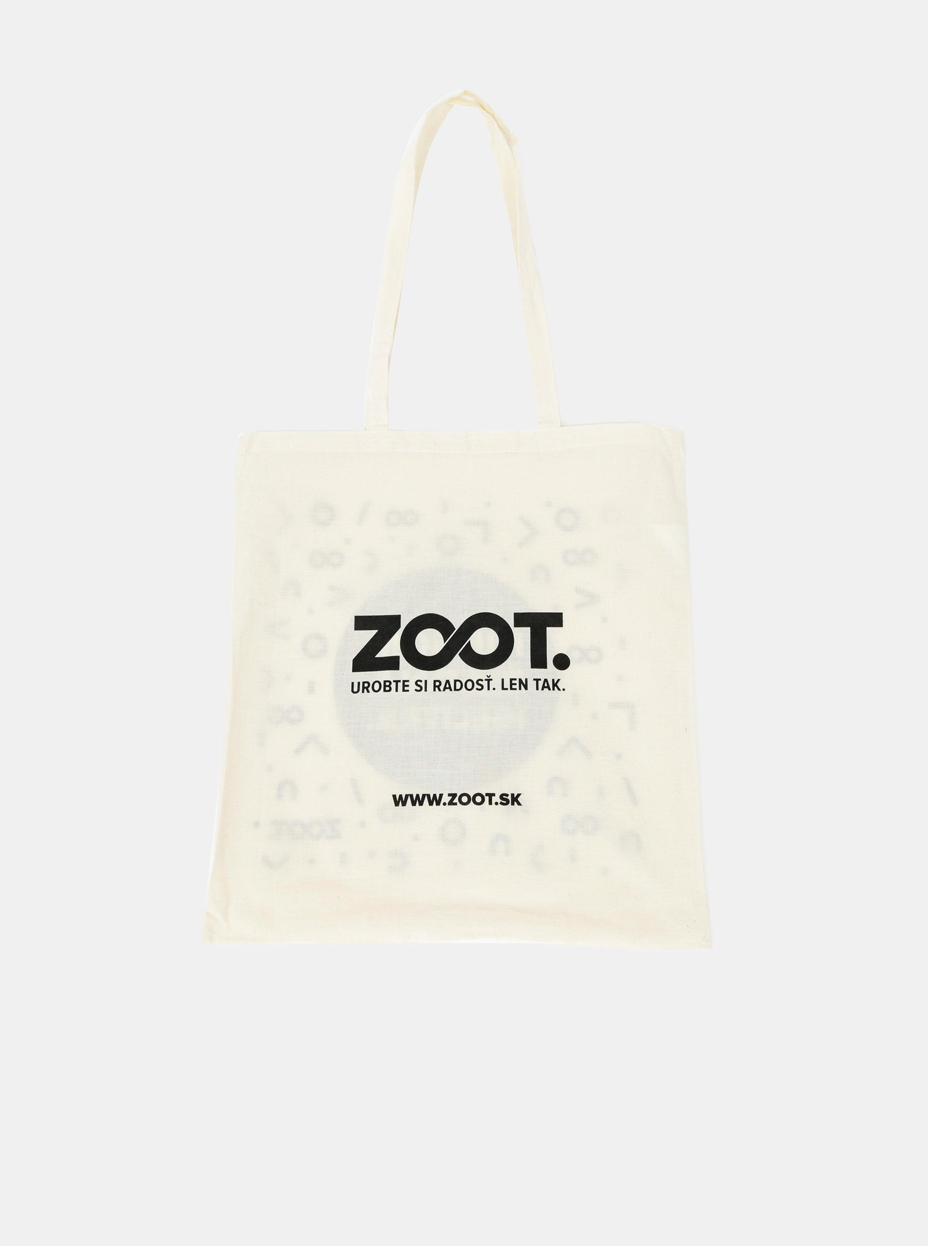 Krémová plátěná taška s potiskem ZOOT