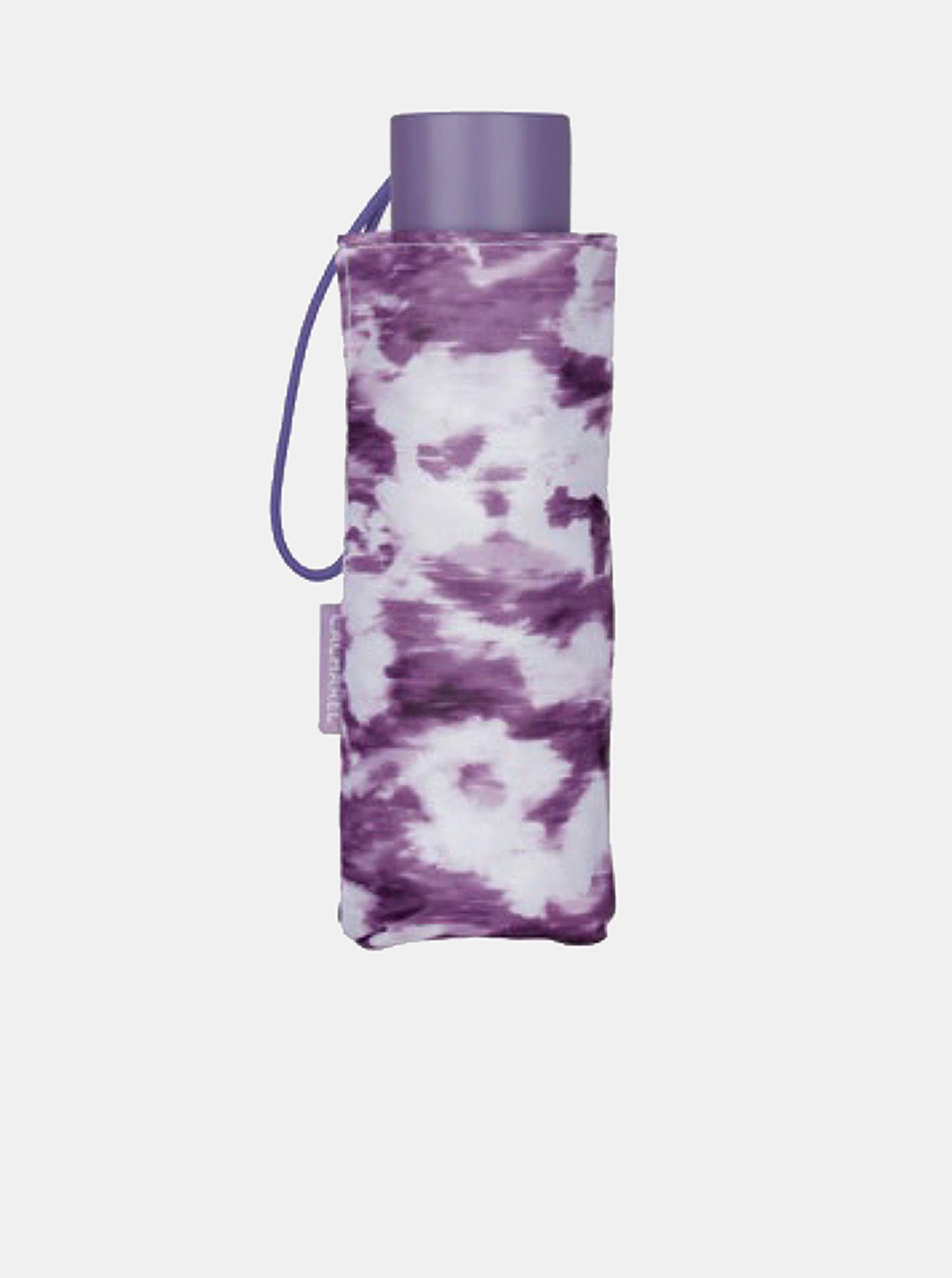 Cachemir Color Camouflage skládací dámský mini deštník - Fialová