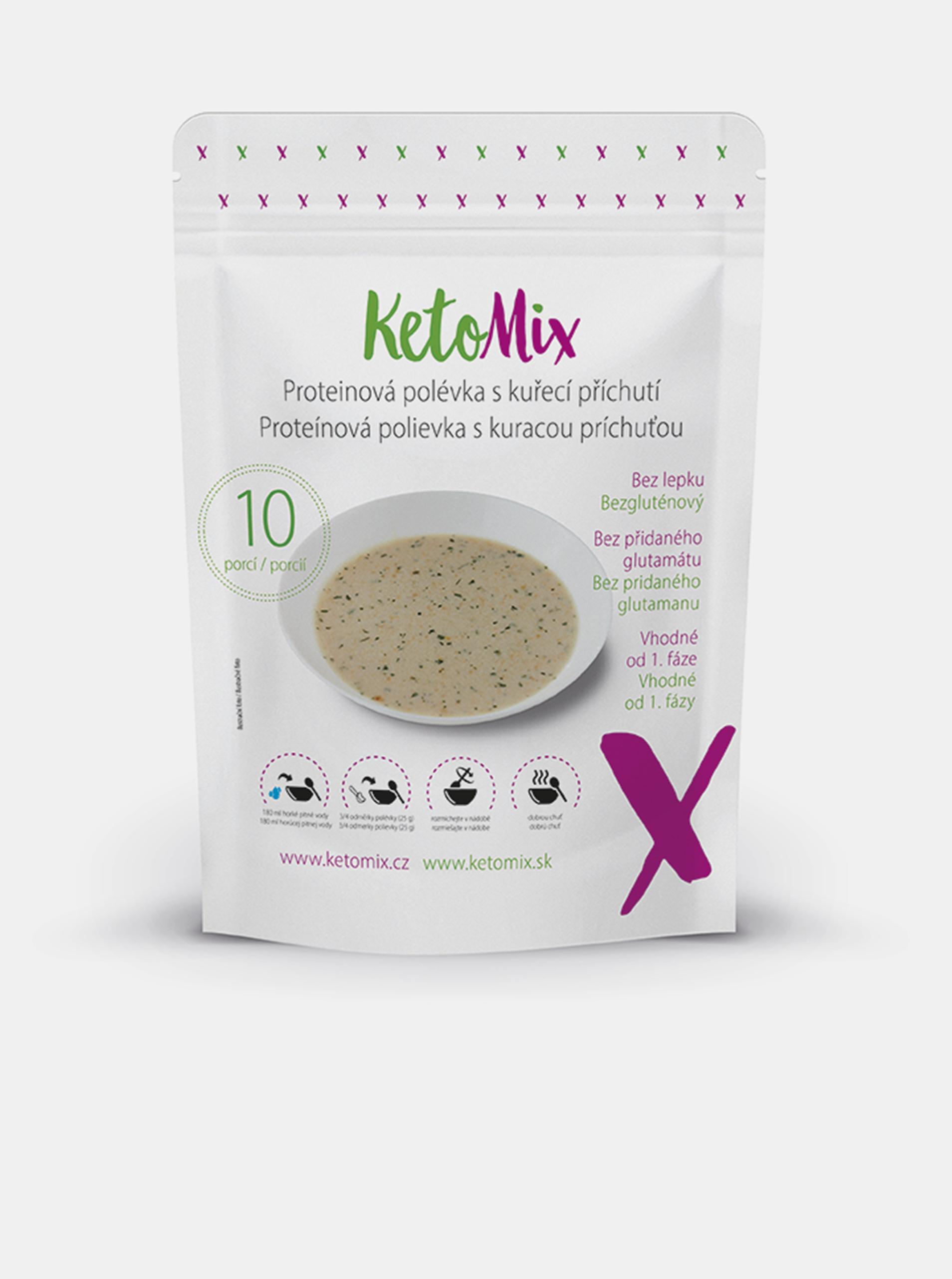 Proteinová polévka s kuřecí příchutí KetoMix (10 porcí)