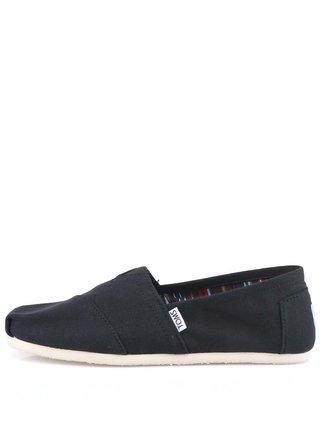 Černé dámské loafers TOMS Canvas Classic